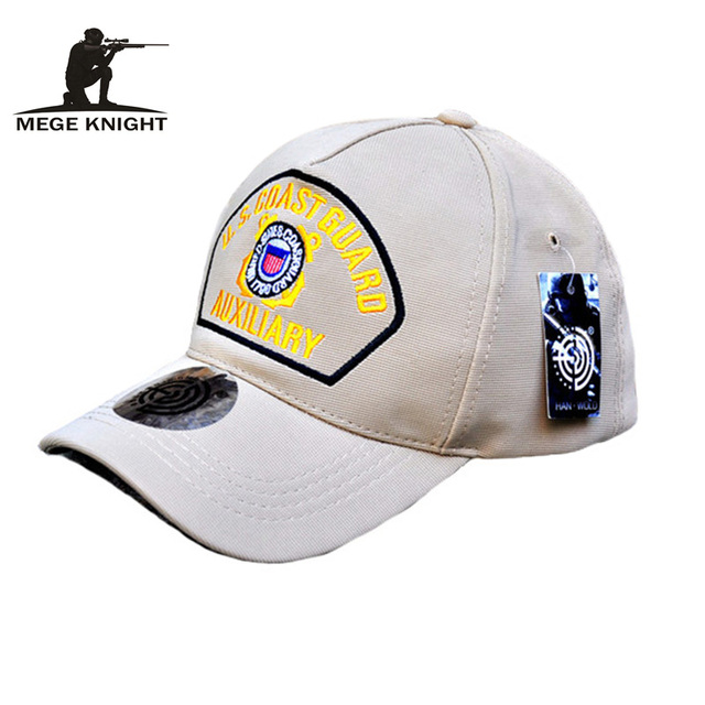 MEGE U.S. Army COAST GUARD AUXILIARY caps, Tactical Baseball Golf cap for man and woman, Summer cap for Sports, Camping