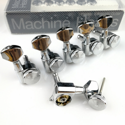 New Chrome Guitar Locking Tuners Electric Guitar Machine Heads Tuners JN-07SP Lock Silver Tuning Pegs ( With packaging )