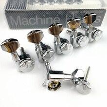 Nuovo Chrome Chitarra Locking Tuners Chitarra Elettrica Macchina Heads Tuners JN 07SP Argento Blocco Tuning Pioli (Con imballaggio)