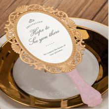 Laser Cut Wedding Invitations Pink Love Mirror Customized Invites Cards Engagement For Marriage Gatefold Wedding Favors CW5096