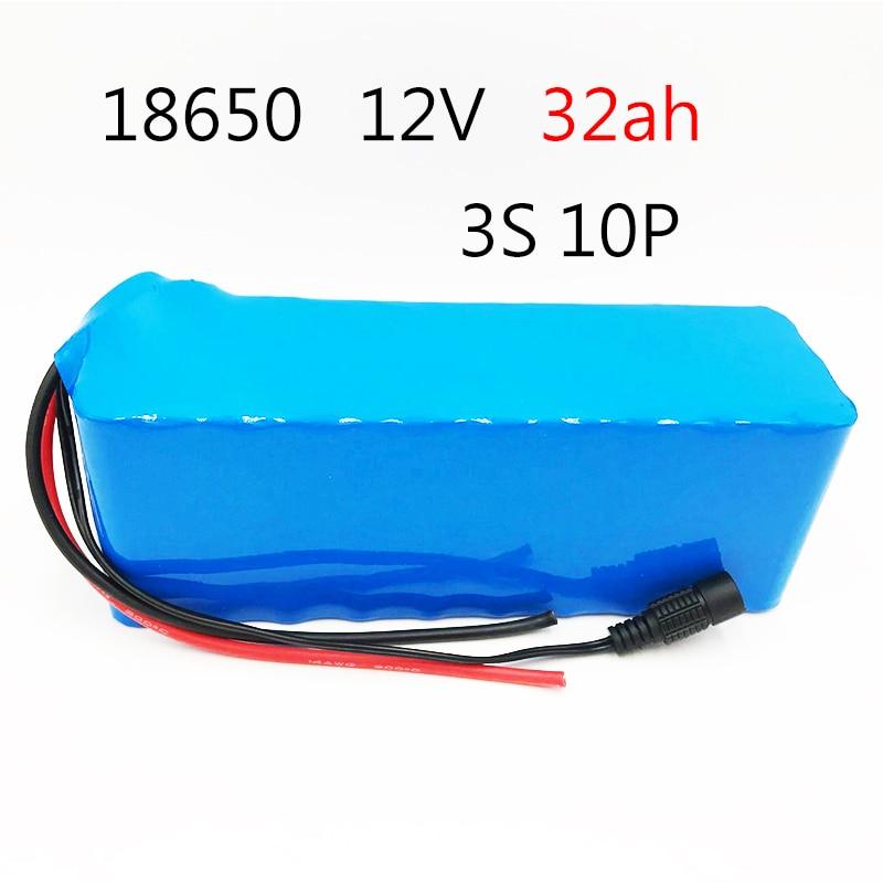 Laudation 12 V 32AH batterie Rechargeable DC 12.6 V 18650 Li-ion batterie 32AH chasse lampe de pêche au xénon Source de lumière extérieure