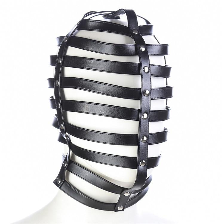 Leder Mask Face Mask Bdsm Mænd Sm Produkter Bdsm Hood Adult-6018