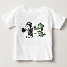Детская футболка с принтом жемчуга перед свиней повседневная