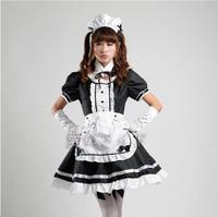 New 2016 Servant Women Cosplay Black Party Halloween Lolita Fancy Dress Adult Women Sissy Maid Uniform