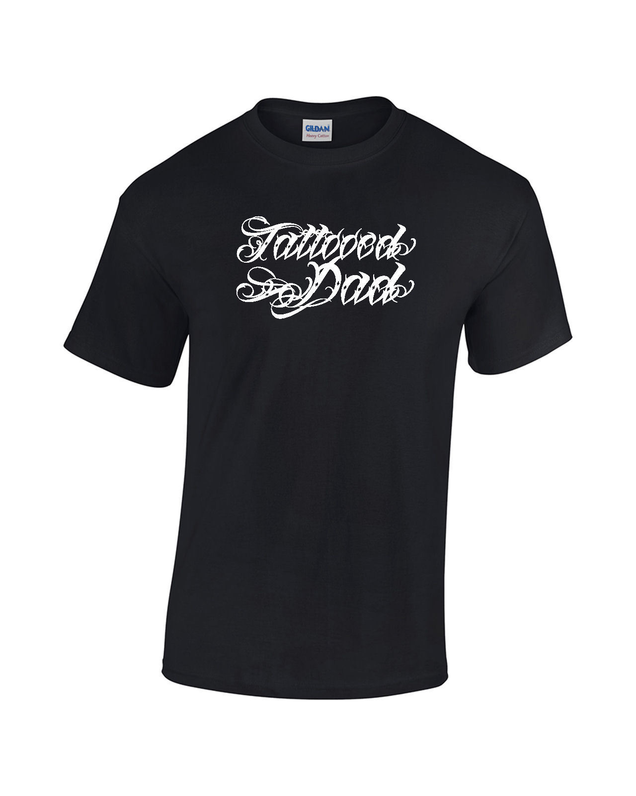 TATTOOED DAD T-shirt Fathers Day Tattoo Ink Flash Mens Ladies Tee Men Print Cotton O Neck Shirts