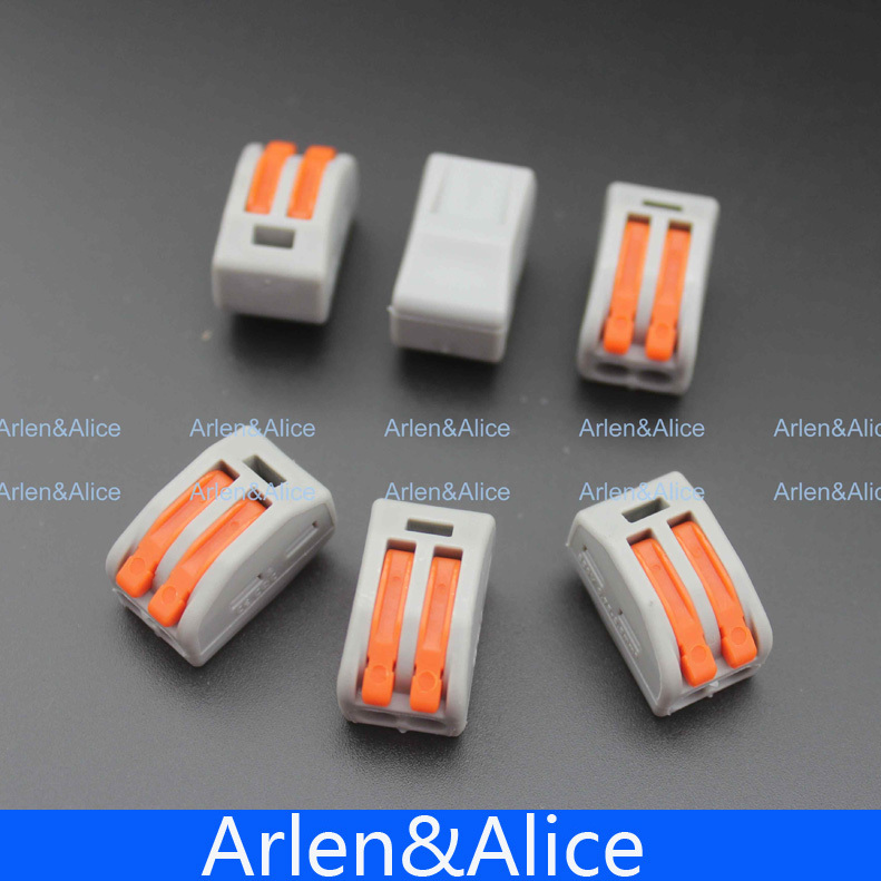 20pcs 2 Pin Universal compact wire wiring connector conductor terminal block with lever 10 pieces lot 222 413 universal compact wire wiring connector 3 pin conductor terminal block with lever awg 28 12
