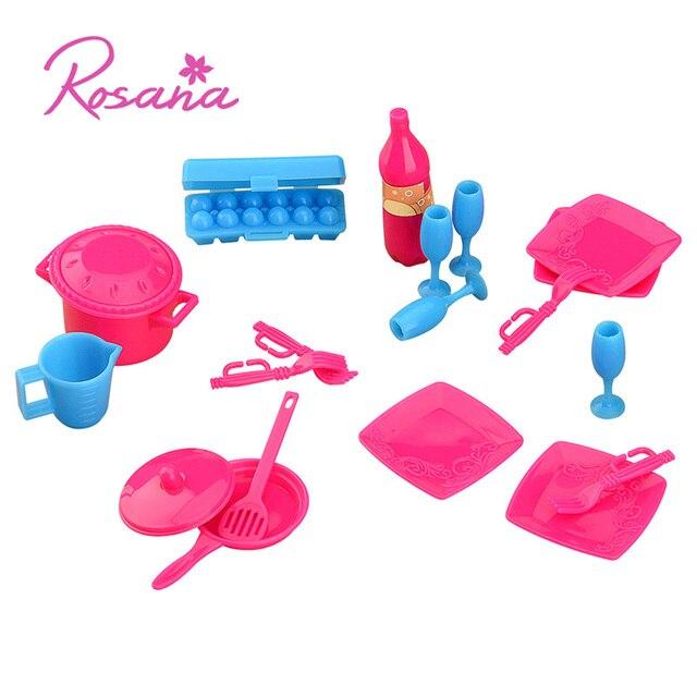 Rosana 18 Pz Stoviglie Utensile Da Cucina Set per Barbie per Monster ...