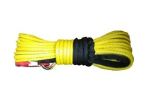 12mm 30meter synthetic uhmwpe rope winch line with hook