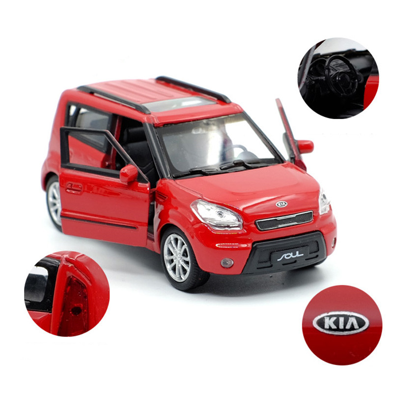 Best Selling 1:36 Kia SOUL Off-road Alloy Car Model,simulation Die-casting Door Pull Back Children's Toy Car Model,free Shipping