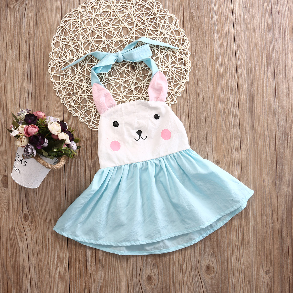 834528a72 Easter 2019 Toddler Baby Kids Girls Bunny Dress Backless Halter Party  Wedding Fancy Dresses 1 5T-in Dresses from Mother & Kids on Aliexpress.com  | Alibaba ...