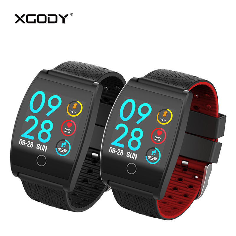 $26.08 XGODY QS05 Fashion Smart Bracelet Pedometer Heart Rate Monitor Blood Pressure Wristband for iPhone for Xiaomi Smart Watch Men