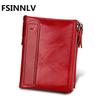 FSINNLV Men Short Wallet Genuine Leather Men Day Clutches High Quality Men Handbag Business Male Wallet