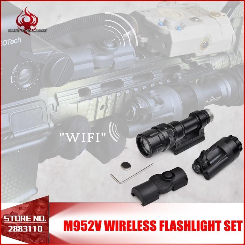 Night Evolution Tactical light M952V Wireless Flashlight Set Quick Release Tactical Flashlight Airsoft Torch NE 04077 FOR WARGAM ne 04038 night evolution wmlx2 multifunction weapon mounted flashlight white