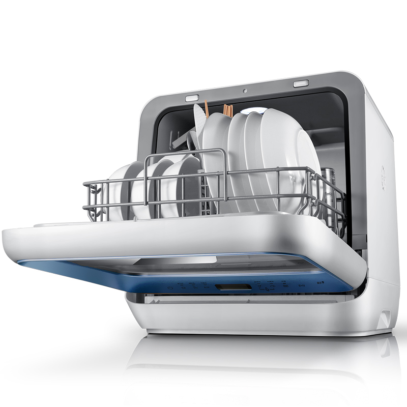 buy midea mini countertop dishwasher hands free automatic dishwasher machine for dishes free standing from reliable dishwasher