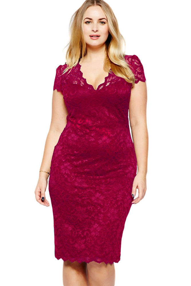 Red Lace Dresses Plus Size Ibovnathandedecker