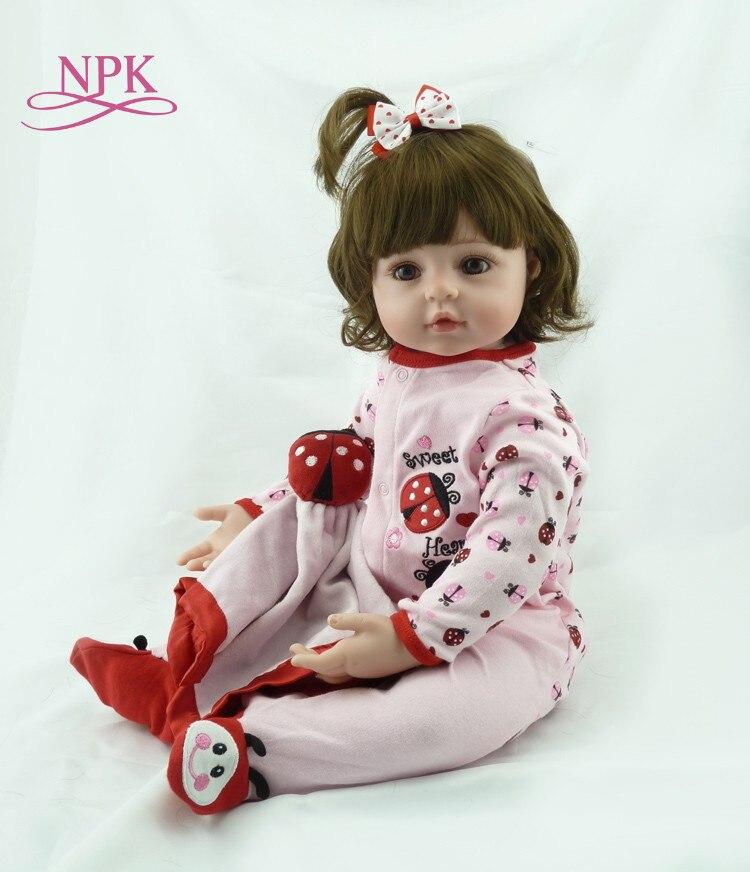 24 58cm Silicone Vinyl Reborn Baby Girl Realistic Alive Newborn Babies Doll White Skin Ethnic bebe