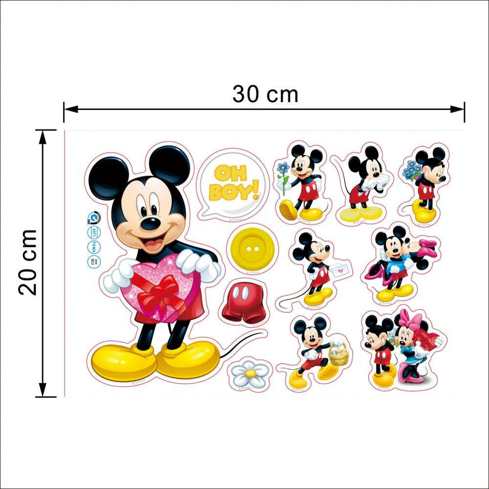 Hot Sale Cartoon Mickey Mouse For Bathroom And Kids Rooms-Free Shipping Bathroom Stickers For Kids Rooms