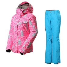 Outdoor warm snowboarding clothes women ski suit single thick plate board sports breathable waterproof anorak