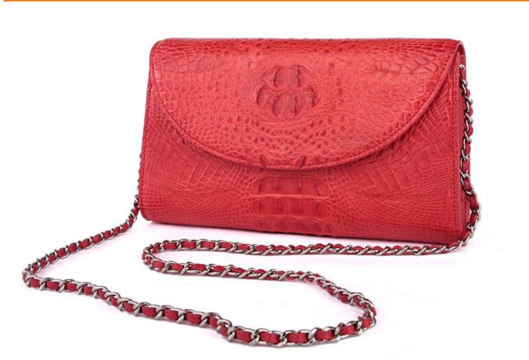 100% genuine crocodile leather purse and wallets 2016 fashion women evening clutch crocodile leather shoulder bag