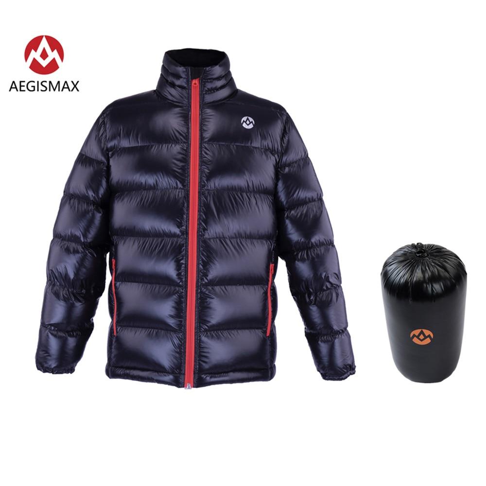 AEGISMAX Unisexe Ultra-Léger 95% Duvet d'oie Blanche 800FP Vers Le Bas En Plein Air Camping Garder Chaud Vers Le Bas Veste