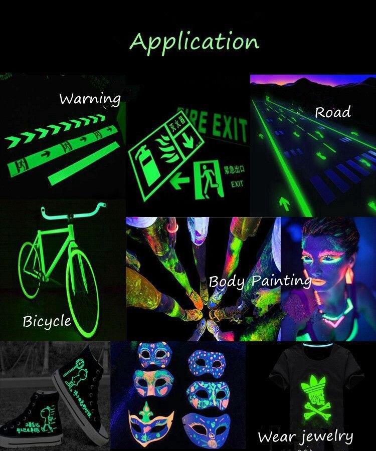glänzende Unter Uv Lichter Neon Pulver Nail Art Polnisch Kunden Zuerst 10gr Lila Farbe Fluoreszierende Pulver Phosphor Pigment Für Farbe