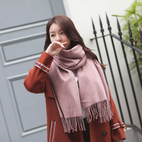 Joker Color Pure Cashmere Scarf Female Long Thickening Tassel Scarf Air Conditioning Shawls And Collar Men