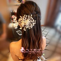 Luxuoso vestido de Noiva Pérola Acessório de Cabelo Contas Flor Casado 2016 Chegou Novo Cabelo Bonito Acessórios Para o Cabelo de Noiva