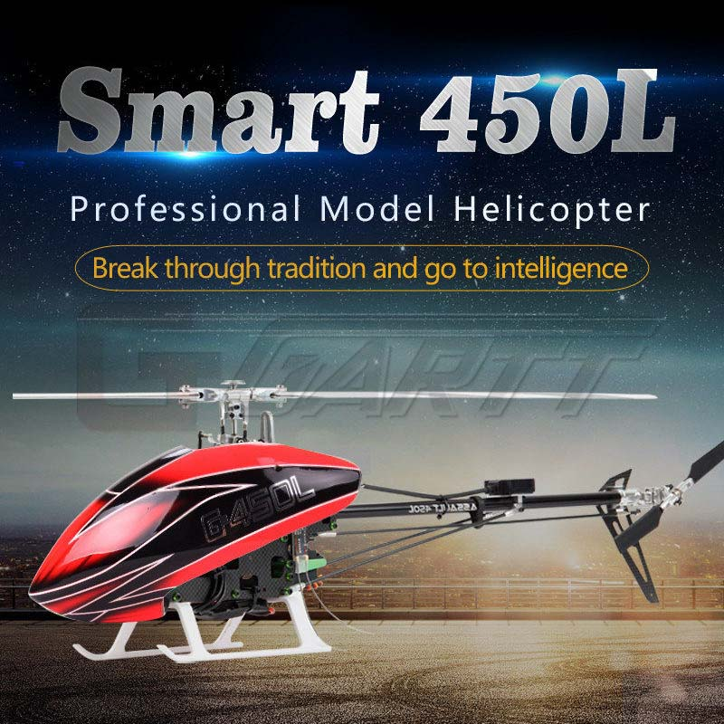 GARTT Smart 450L High Simulation RC RTF helicopter aircraft for training 6CH single paddle aileronless цена