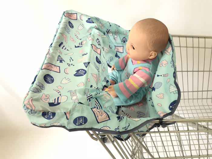 [Материал, имитация шелка] 3 цвета, качественный чехол для покупок и стульчик для кормления для младенцев и малышей - Цвет: ocean