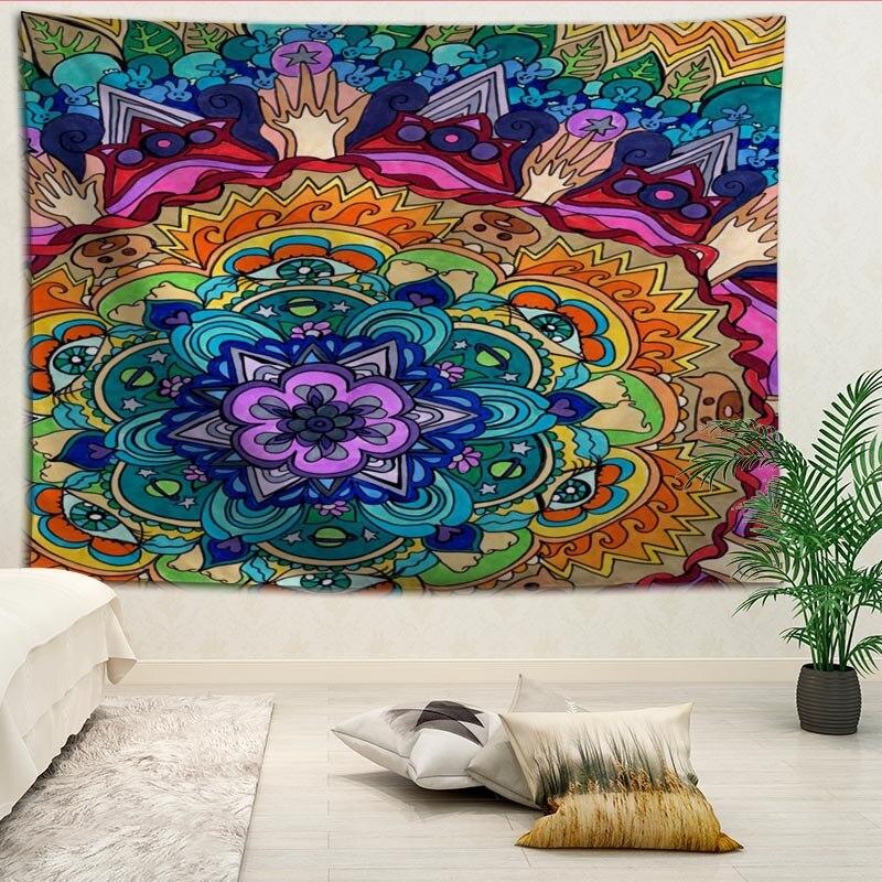 Новое поступление, гобелен с принтом Мандалы На Заказ, декоративное настенное одеяло большего размера для дома, гостиной, спальни