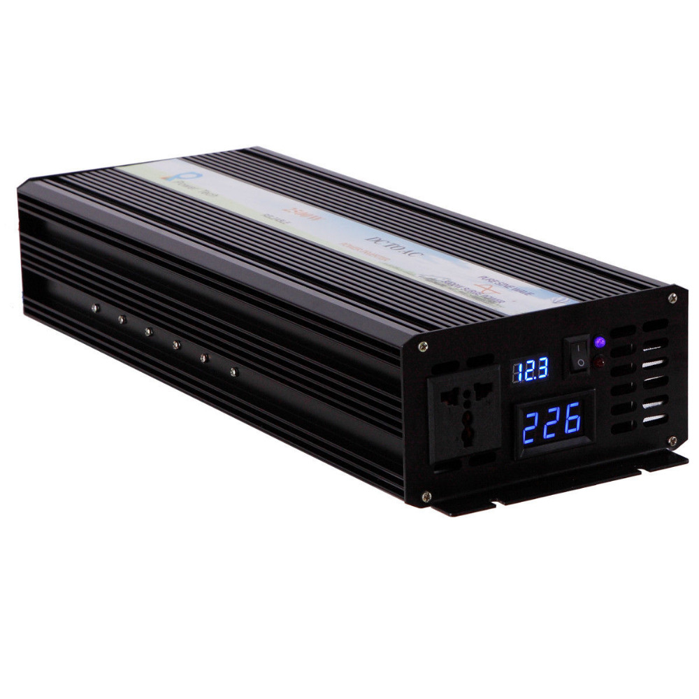 Pure Sine Wave Solar Inverter 12V 220V 2000W Car Power Inverter 12V/24V/48V DC to 100V/120V/220V/240V AC Converter Power Supply pure sine wave solar inverter 1000w 12v 220v car power inverter voltage converter power supply 12v 24v dc to 110v 120v 220v ac