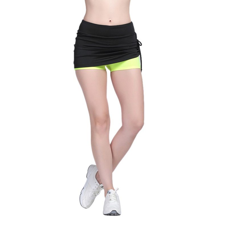 Women Fitness Sports Clothes Breathable Yoga Skirt Shorts Adventure Workout Active Bottom Shorts