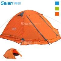 Палатка для кемпинга на открытом воздухе, туризм палатки с светодиодный 2 3 человек 3 сезон легкий Водонепроницаемый палатка для Семья