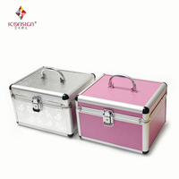 ICONGSIGN Professional Grafting Kit Full Set with Silver/Pink Case for Eyelash tools storage Beauty Salon Makeup Cases