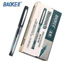 12pcs Lot Baoke Gel Pen Medium Point 0 5 Mm Large Capacity Black Ink Promotional Writing