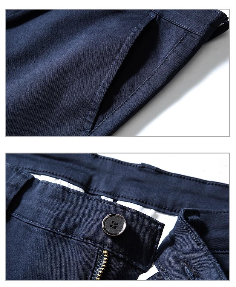 HTB1OaZyajDuK1Rjy1zjq6zraFXa8 4 Colors Casual Pants Men Classic Style 2019 New Business Elastic Cotton Slim Fit Trousers Male Gray Khaki Plus Size 42 44 46