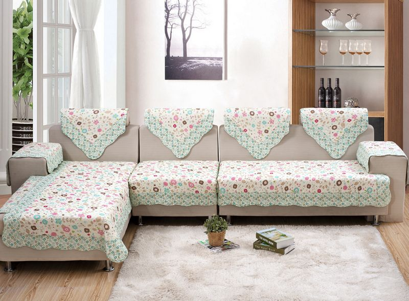 Sofa cover set NEW design 100 cotton materials seat cover set