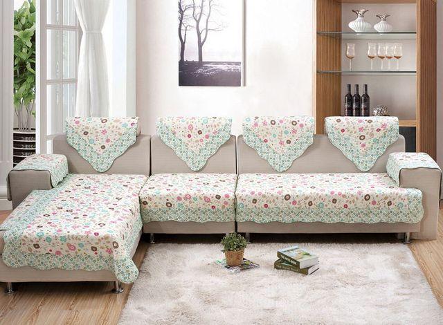 Sofa Cover Set New Design 100 Cotton Materials Seat Slip