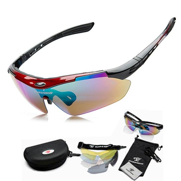 Nuevo esquí bicicleta deportes gafas de sol gafas 5 lente