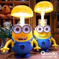 Minions Charging Lamp Learning Lamp Table Lamp Led Night Light Use As Money Box Minions Piggy