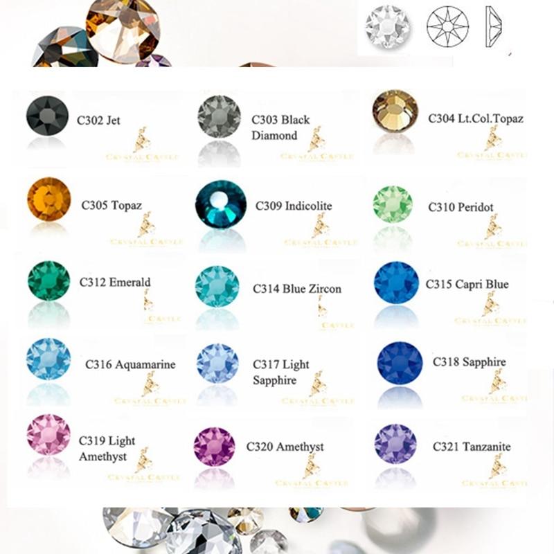 Crystal Castle Color Rhinestones Top Grade 6A Glitter Crystal Hotfix Strass Diy Sewing&Fabric Stone Garment Rhinestone Hot Fix