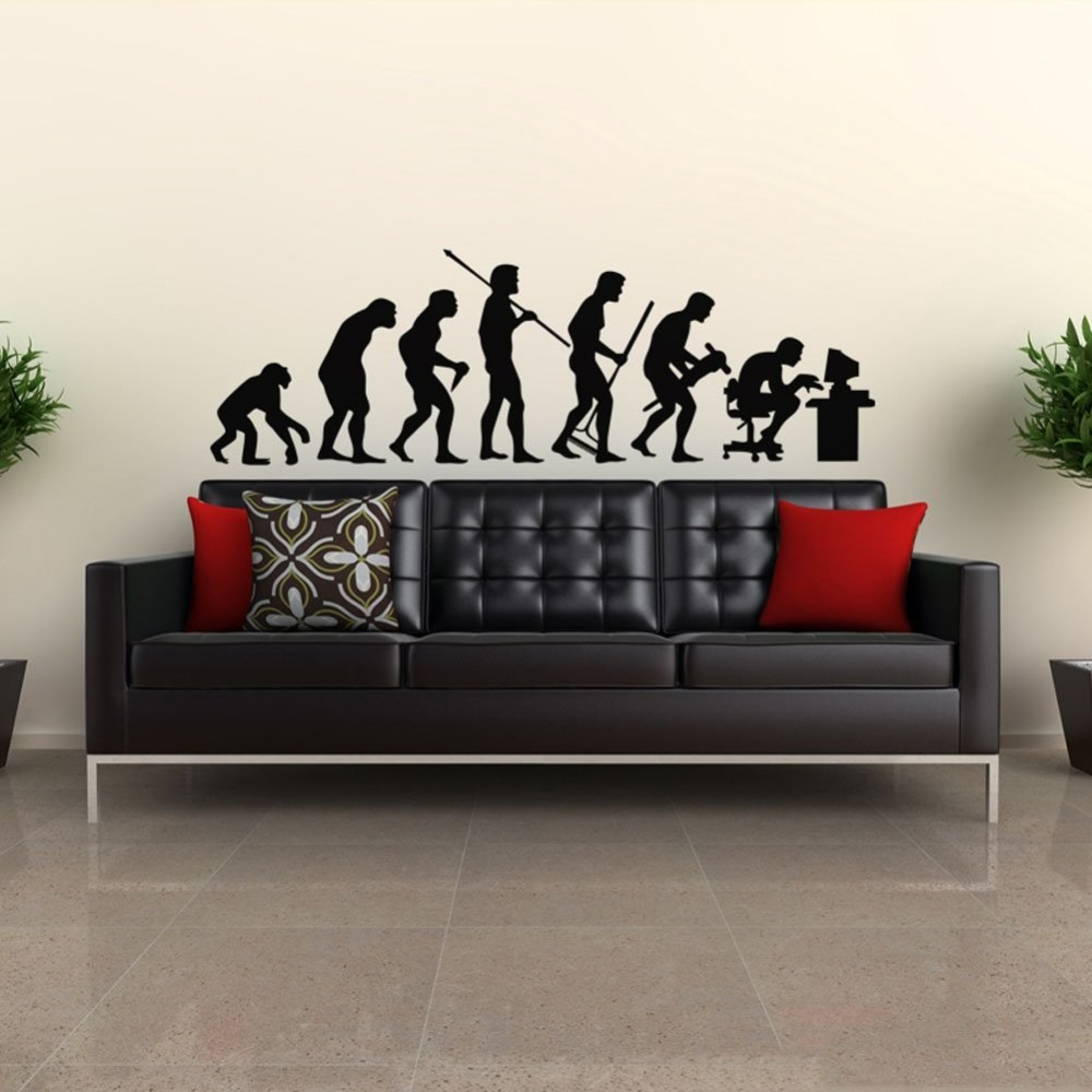 Evolutionary history Computer Geek IT Programmer Office Wall Decal Student Dorm Wall Sticker Living Room Wall Mural