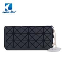 Cathylin Rainbow Colors Women Wallets Geometric Clutch Bags Designer Purses Wallets Carteira Feminina Organizador