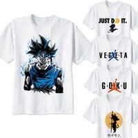 Bola de Dragón t camisa super saiyan dragonball z dbz goku Vegeta cápsula corp camiseta hombres/mujeres/niños larga para niños adolescentes