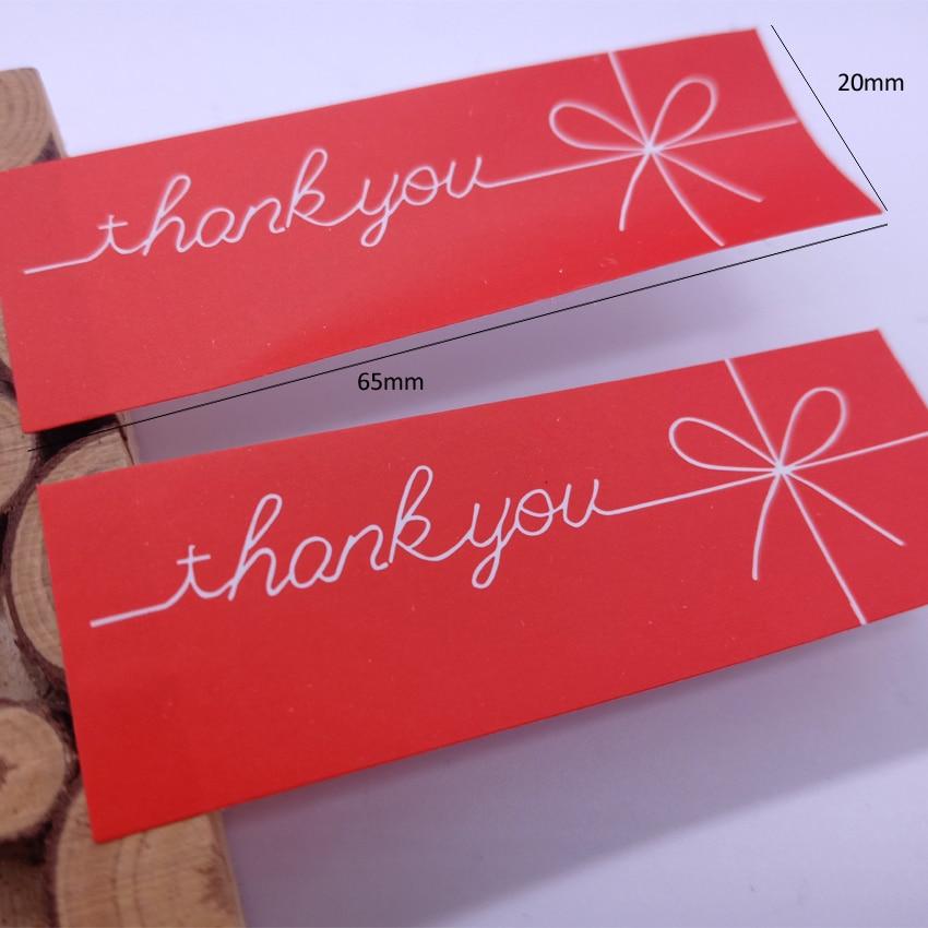 Купить с кэшбэком 150pcs/lot thank you paper seal sticker Valentine's Day decorative adhesive gift sticker package label sticky