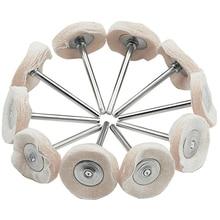10 Uds. Almohadilla giratoria para rueda de pulido de fieltro y fieltro, Mini amoladora para pulir madera y Metal, herramientas de pulir