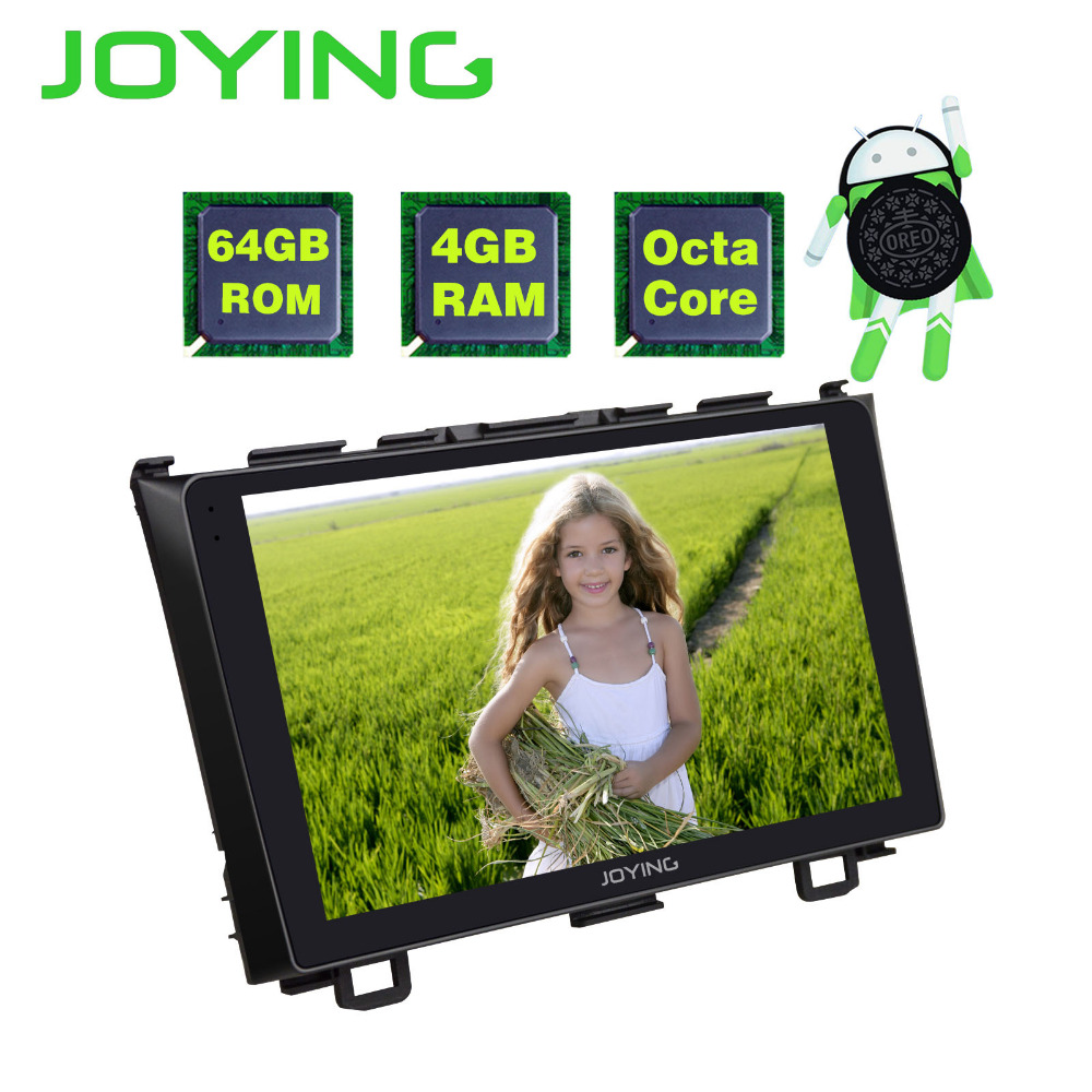 JOYING Official For Honda CRV 2007 2011 9'' Android 8.0 Car Stereo 2 Din 4gb ram 64gb Rom 8 Core HD Ultrathin GPS Cassette Radio