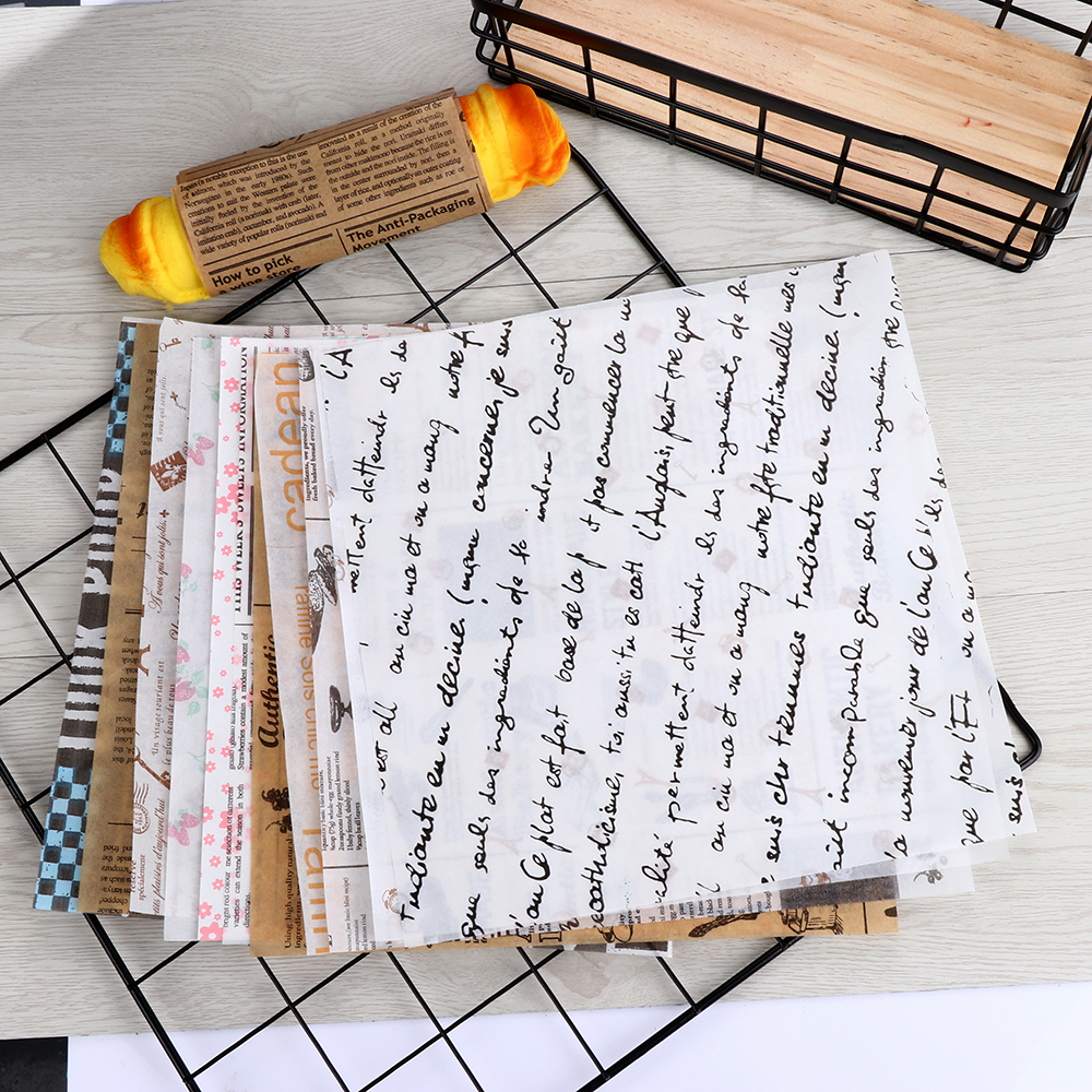 Parchment Paper Baking Tools Food Grade Grease Paper Bread Sandwich Burger Fries Wrappers Cookie Oilpaper 3 Meters White Brown Bright In Colour Home & Garden