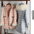 High Quality Vampish Winterisation Artifact Luxury Sheep Wool Medium-long Down Coat