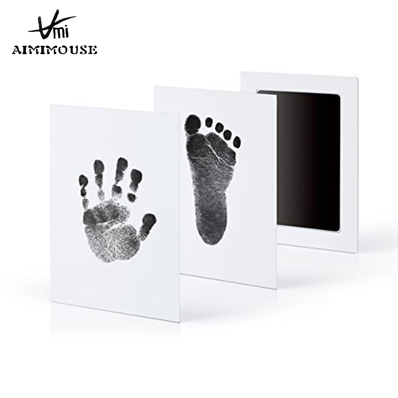 Baby Handprint Footprint Non-Toxic Newborn Imprint Hand Inkpad Watermark Infant Baby Souvenirs For Baby Casting Clay Toys Gifts
